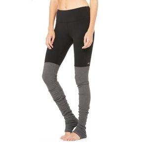 ALO YOGA Black/Stormy Goddess Leggings Size XS